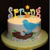 Spring Has Sprung Cake And Cupcake Tower