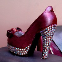3D High Heeled Shoe With Swarvoski Crystals 3d High Heeled Shoe with Swarvoski Crystals
