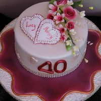 Ruby Wedding Anniversary Cake Ruby Wedding Anniversary Cake