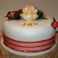 Christmas Bells A Traditional Christmas Cake covered with Marizipan and Fondant