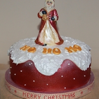 Santa Cake A traditional Fruit Cake covered with Fondant.