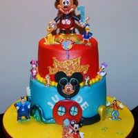 Mickey Mouse Clubhouse Themed Cake For Judes 1St Birthday Mickey Mouse Clubhouse Themed Cake for Jude's 1st Birthday