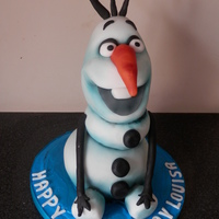 Olaf The Snowman  All chocolate cake. Everything that could go wrong did go wrong on this one including partial collapse, airbrush dying halfway through it,...