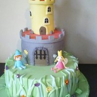 Ben And Holly's Little Kingdom  My daughter's 5th birthday cake, she loves Ben and Holly 's Little Kingdom and wanted the castle. The bottom tier is chocolate...