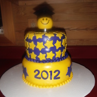 2012 Purple And Yellow Graduation Cake 2012 Purple and Yellow Graduation Cake