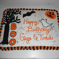 Halloween Birthday Cake Halloween Birthday Cake