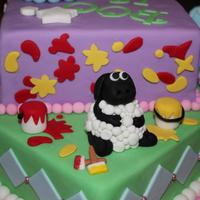 Abc Character Cake: Bookaboo, Wot Wots And Shawn The Sheep   *
