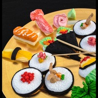 Sushi Cookies! These sushi cookies were a gift for my husband - a sushi lover! They are all hand created - formed on top of sugar cookies - fondant and...