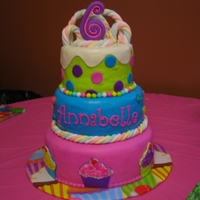 Candy Themed Cake Made this for my daughter's 6th Birthday.