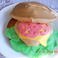 Hamburger Cake I saw this idea somewhere and really wanted to try it. This is the first cake I've made of this kind. It was really fun to do, even...