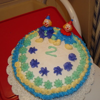 Clown Cake 2 Clowns sitting on top of cake