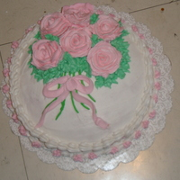 Pink Roses On Cake Pink roses on cake