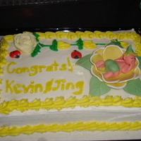 Baby Shower Cake Baby shower cake with baby on yellow flower