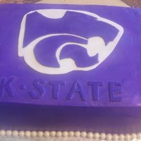 Purple K-State Kansas State Wildcats Graduation Cake