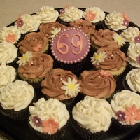 Happy 69Th Made for a lady turning 69. flowers made from modeling chocolate