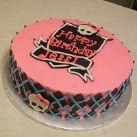 Monster High Monster High cake, All deco made from modeling chocolate.