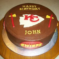 Chiefs All decorations made from modeling choc. Made for a chiefs fan.