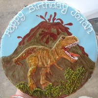 Dinosaur Giant Birthday Cookie The dinosaur is NOT a transfer by the way... Just built on royal icing :)