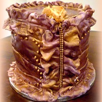 Corset Cake Chocolate cake for my daughter's 17 birthday.