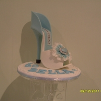 Sugar Stiletto Shoe Pure sugar, stiletto shoe with diamante buckle. Jimmy Choo style novelty shoe.