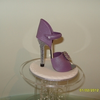 Sugar Stiletto Shoe Another Sugar shoe with silver glitter heel,