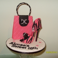 Hot Pink Zebra Print Louboutin Shoe And Bling Bag My latest Cake Topper. The Hot pink Zebra print shoe is modelled from gumpastes with the black overlaid. The soles are double skinned in...