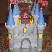 Medieval Castle This was my first castle cake. I used wilton's castle set and fondant.