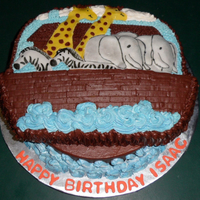 Noah's Ark Cake Located in Kinston NC ....... Cakes by Jana specializes in fresh, made to order cakes for weddings, birthdays, bridal showers, baby showers...