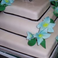 Classic Wedding Cake  Located in Kinston NC ....... Cakes by Jana specializes in fresh, made to order cakes for weddings, birthdays, bridal showers, baby showers...