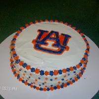 Auburn Birthday Cake this cake was a pumpkin cake with cream cheese icing, lettering done free hand with the cream cheese icing