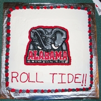 Alabama Birthday Cake The logo for this cake was made from royal icing.