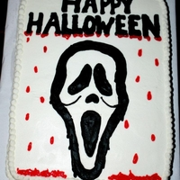 1321824252.jpg my son wanted a scream cake for his school for halloween