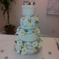 The Couples Last Name Is Baca Which Means Cow In Spanish Hence The Cow Toppers I Really Enjoyed Making This Cake Especially The Flower The couple's last name is Baca, which means cow in Spanish, hence the cow toppers. I really enjoyed making this cake, especially the...