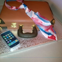 Briefcase Cake made with the help of Planet Cake book