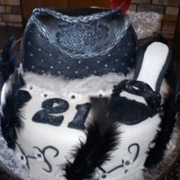 Black And White Purse Cake A 21st cake which had to include a purse and feathers I just added the shoe this was my first attempt at both . She liked it