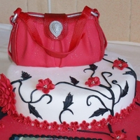 White Red And Black birthday cake for very dear cousin