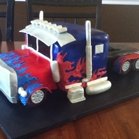 Optimus Prime Cake This is Optimus Prime in the form of cake! This was a lot of fun to make!