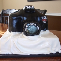 3D Canon Camera Cake This is a Canon camera cake. I had a lot of fun making it. I love to do 3D cakes!!!