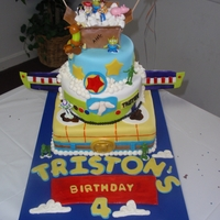 "Toy Story Cake This was a fun cake to make. Its different caharacters from the story! And almost all the characters coming out of the ""Attic""..."