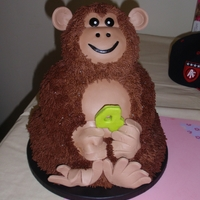 3D Monkey Birthday Cake This is an Icing Smiles cake for a little boy who is very sick. I loved being able to make this for him!