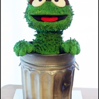 Oscar The Grouch Grooms Cake