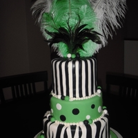 Green And Black Wedding Shower Cake