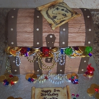 Treasure Chest Cake   This cake was a lot of fun to make and quite the challenge