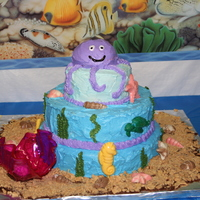 Under The Sea All BC with chocolate sea animals and shells