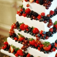 Berry Wedding Cake Simple four tier cake with amaretto buttercream and very tasty berries all around!