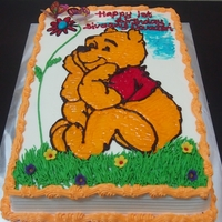 Winnie The Pooh Orange Cake with Piping Gel