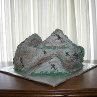 Mountain Cake This cake is chocolate with chocolate ganache filling, for an 8th birthday. It was my first shaped cake, there was only an idea there was...