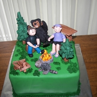 Camping   Chocolate cake with a chocolate gauche filling, made for campers