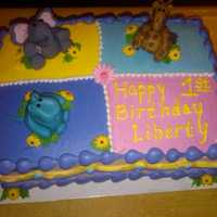 Baby Animals   Baby's 1st birthday. Baby animals made of Fondant.