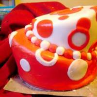Topsy Turvy Attempt This cake was my first encounter with fondant, layered cake, AND topsy turvy. The topsy turvy design, as well as the fondant turned out...